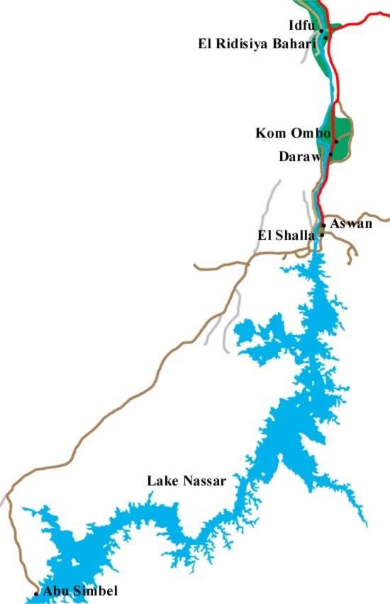 kaart nasser meer