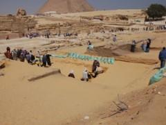 beschermingsmuur rond Sfinx Giza