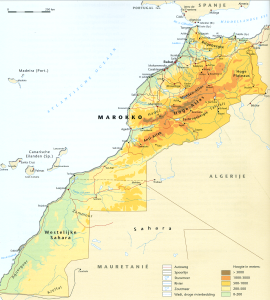 Marokko kaart