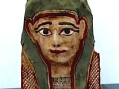 mummiemasker van papier maché bevat het oudste fragment van het evangelie van Markus, uit de eerste eeuw