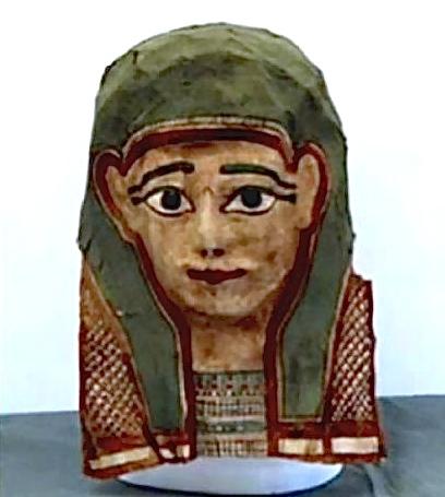 mummiemaskers van papier maché bevatten vaak oude teksten, zoals het oudste fragment van het evangelie van Markus, uit de eerste eeuw