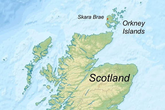 Orkney eilanden de positie