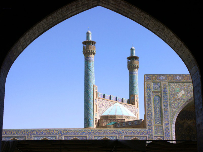 Perzië Iran Isfahan minaretten van de Shah moskee © Ralf Schumacher (Dresden)